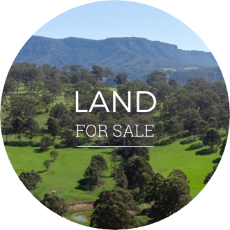 Image of farmland with land for sale text